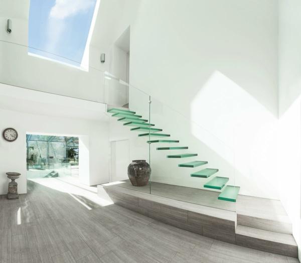 Treppenhaus Gestalten Design Gläserne Stufen