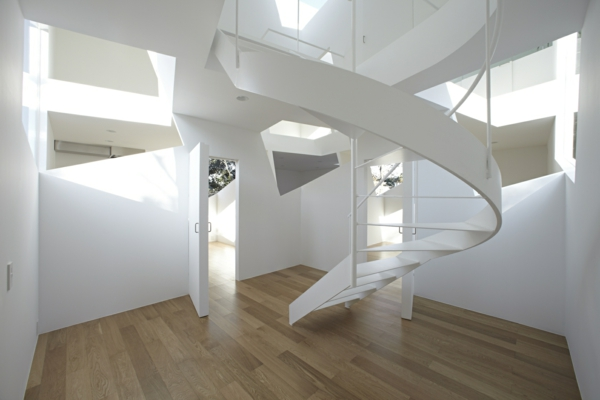 treppenhaus gestalten weiß schöne wohnideen