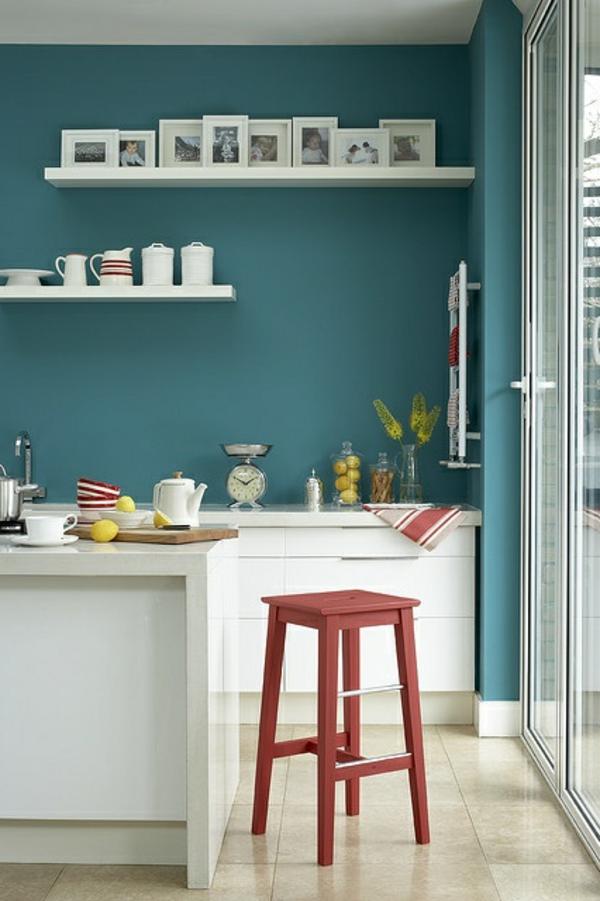 wandfarben ideen küche grüne wandfarben weiße kücheninsel