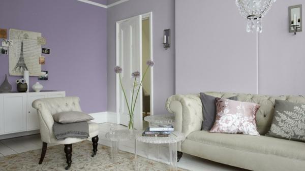 wandfarben geschickt aussuchen - schöne wände kreieren - Wohnzimmer Farben 2015