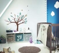 Babyzimmer · Kinderzimmer · Wandgestaltung. Werbung