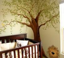 Niedliche Babyzimmer Wandgestaltung – Inspirierende Wandgestaltung Ideen