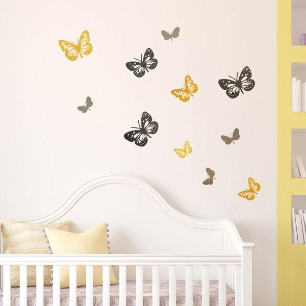 babyzimmer ideen wandgestaltung dschungel: kinderzimmer junge ... - Babyzimmer Wandgestaltung Beispiele Neutral