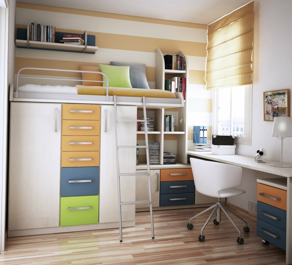 Hochbetten Erwachsene Design Kleine Wohnung ...