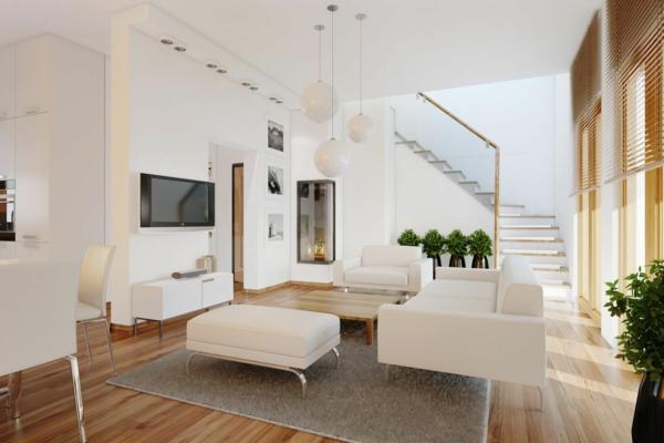 wohnung gestalten ideen wohnzimmer weißes mobiliar