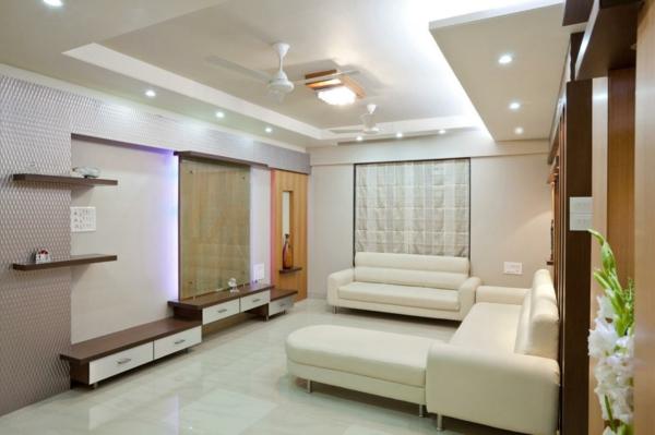 wohnzimmereinrichtung ideen weiße einrichtung offene wandregale