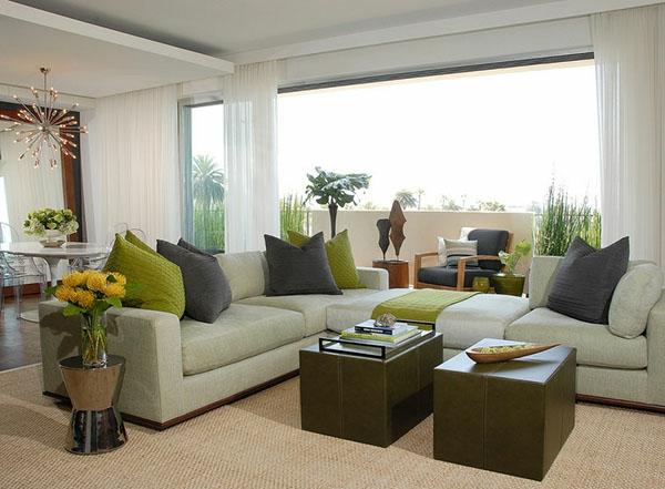 wohnzimmereinrichtung stilvolle möbel teppich