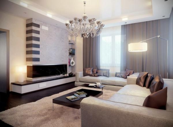 wohnzimmereinrichtung teppich luxuriöse dekokissen
