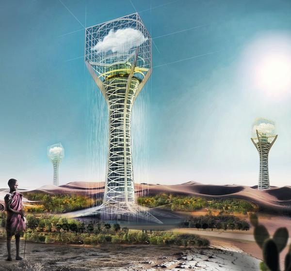 zeitgenössische kunst architektur baukunst breeding clouds skyscraper
