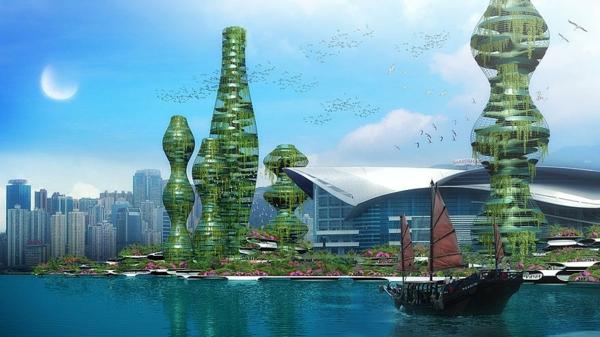 zeitgenössische kunst architektur vertikale parks