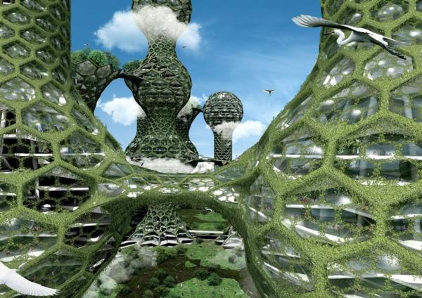 zeitgenössische kunst architektur waben design türme