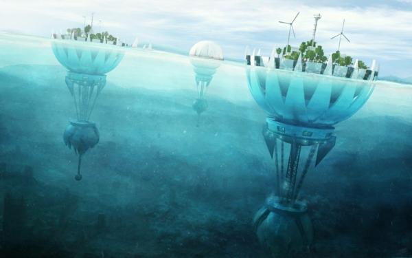 zeitgenössische kunst schwimmende städte windenergie nachhaltig