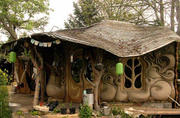 ökologisch bauen lehmhaus naturholz wald