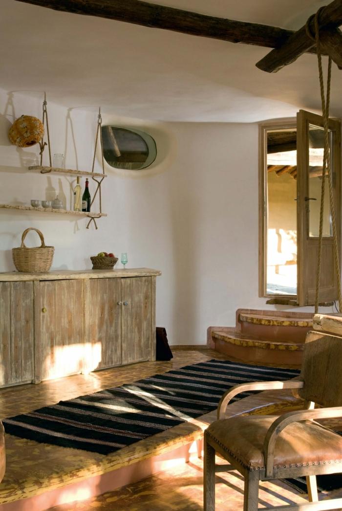 ökologisch bauen lehmhaus rustikales interieur