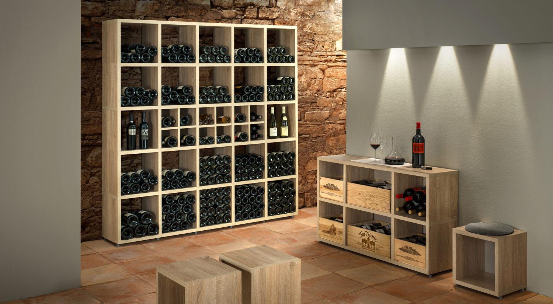 Weinregale mit individuellem Charakter für echte Weinliebhaber