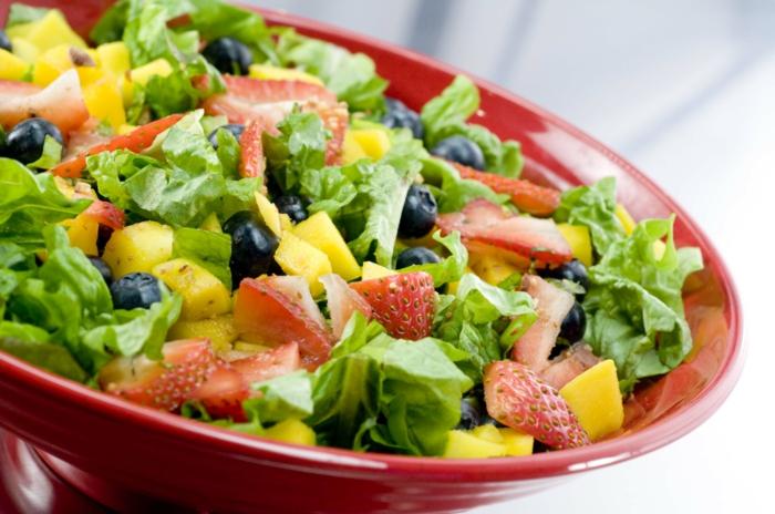 Abnehmen durch Hypnose gesundes essen salat
