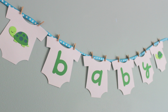Babyparty Deko Selber Machen : Baby party deko girlande selber machen wand dekorieren