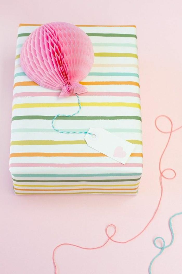 Babyparty geschenke verpacken pastellfarben