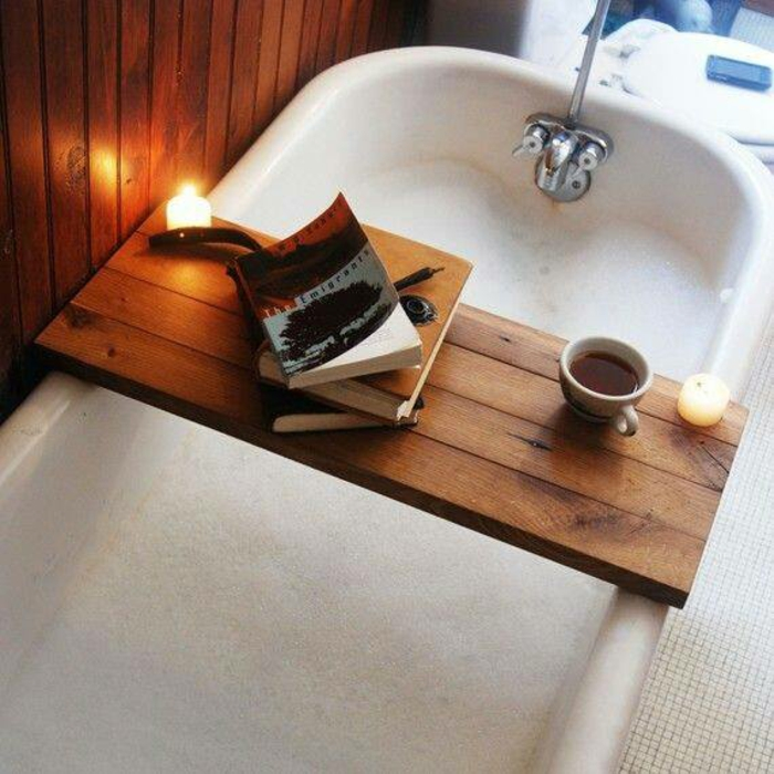 Badewannenablage Deko Badezimmer Ideen ablage badewanne holzbrett