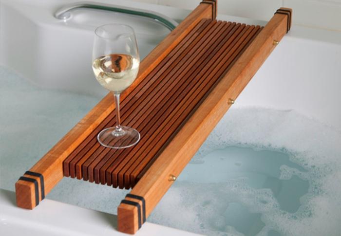 Badewannenablage Deko Badezimmer Ideen ablage badewanne holzkonstrukt