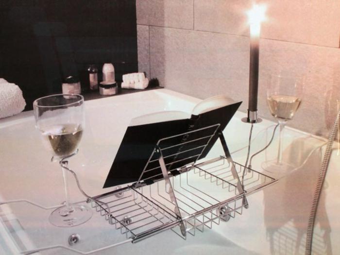 Badewannenablage Deko Badezimmer Ideen ablage badewanne lesepult