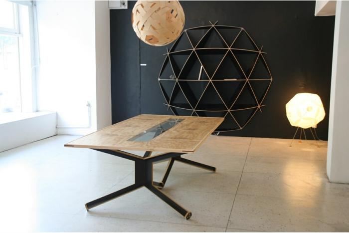 Designer Einrichtung  Sperrplatte in Szene