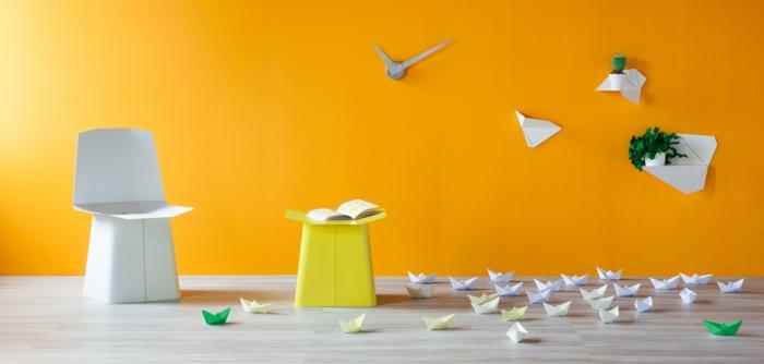Designer Einrichtung  Wand taschen origami