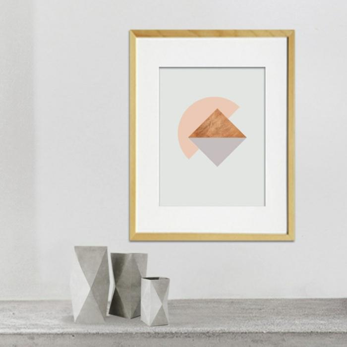 Designer Einrichtung dreieck Poster