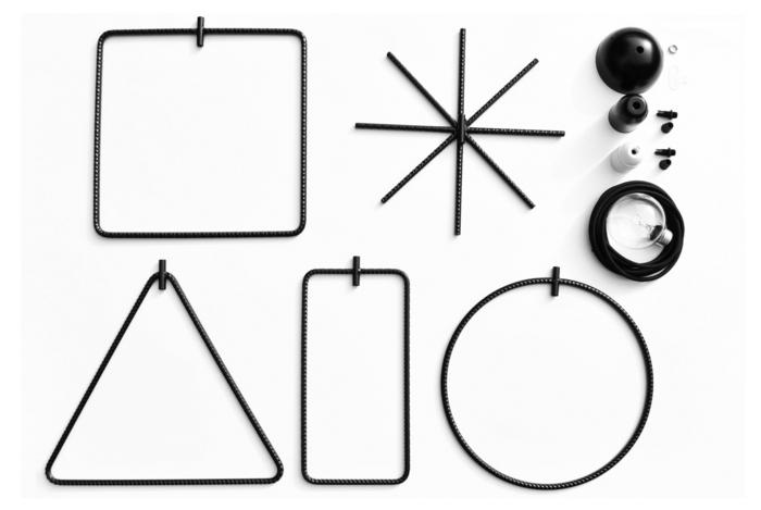 Designer Einrichtung  einfache Geometrie grund