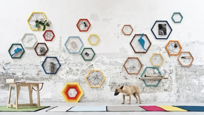Designer Einrichtung hexagon