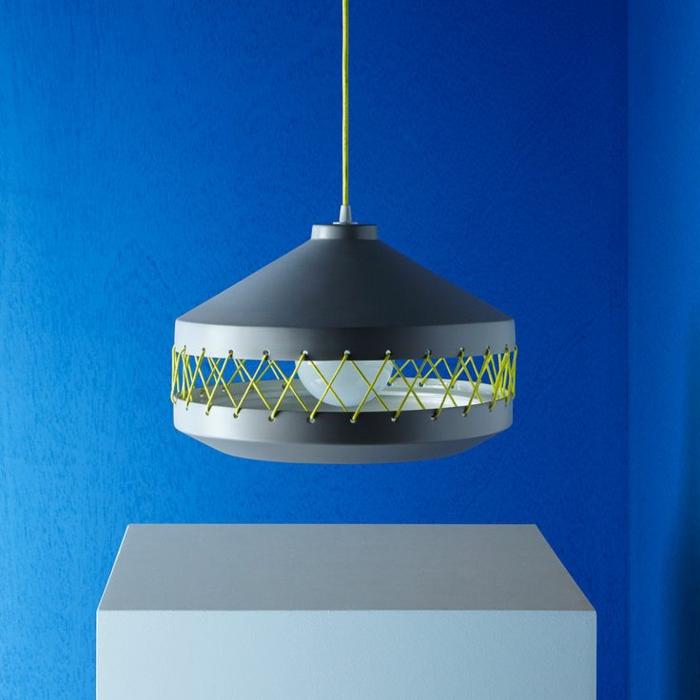 Designer Einrichtung  keramische Leuchte grau