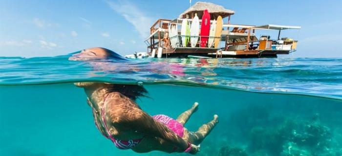 Fidschi Inseln Urlaub cloud 9 schwimmendes restaurant