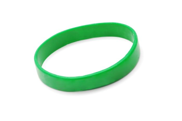 Gummi armbänder mit botschaft oder ohne grün