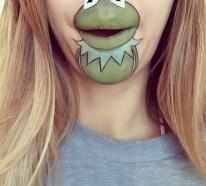 comicfiguren auf den lippen schminken kreatives make up von laura jenkinson. Black Bedroom Furniture Sets. Home Design Ideas
