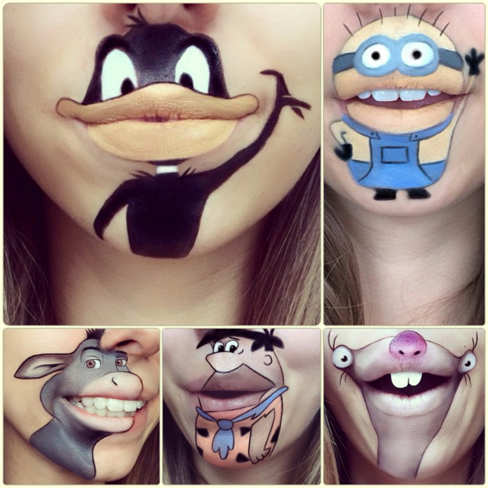 Comicfiguren Auf Den Lippen Schminken Kreatives Make Up Von Laura
