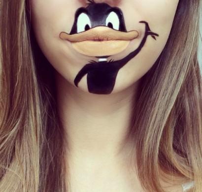Comicfiguren auf den lippen schminken kreatives make up - Anne de shrek ...