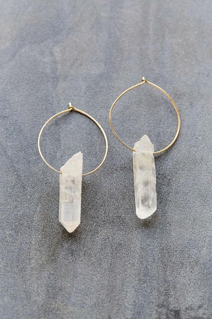 Modeschmuck Ohrringe ohrringe mit bergkristallen rund