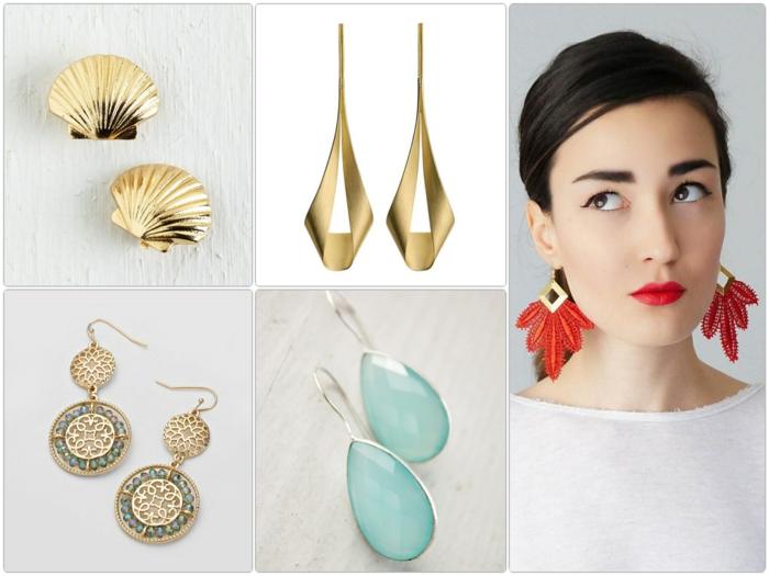 Modeschmuck Ohrringe nach gesichtsform auswählen