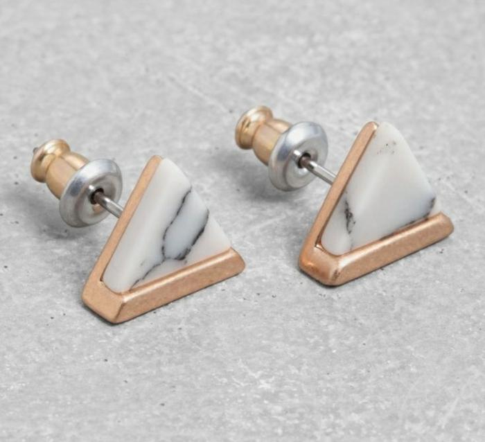 Modeschmuck Ohrringe schmuck design ohrstecker dreieckig