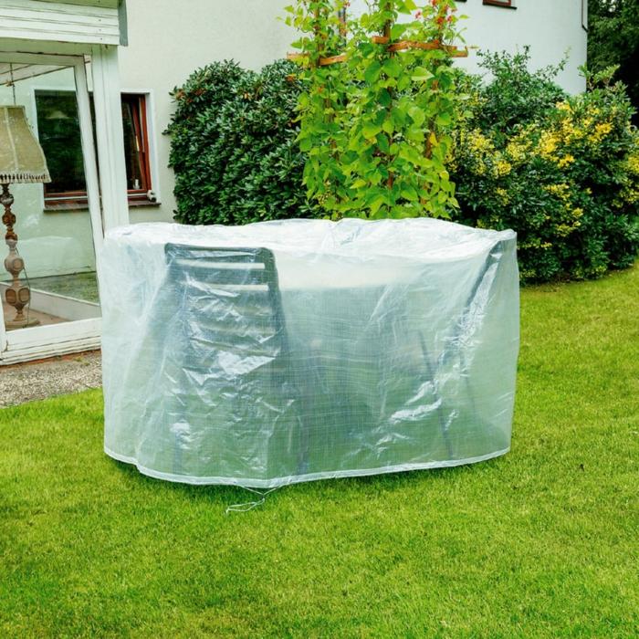 Schutz für Gartenmöbel Plane Garten Tisch Stühle