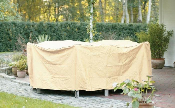 Schutz für Gartenmöbel Plane Rattan Möbel