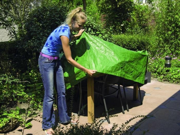 Schutz für Gartenmöbel Plane Tisch und Stühle