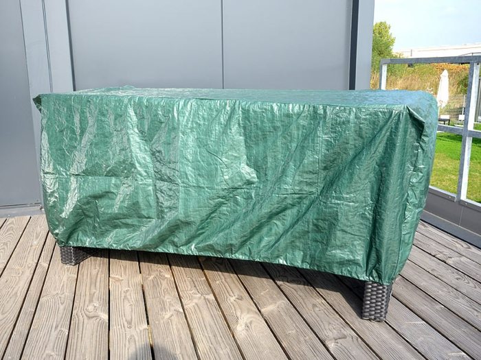 Schutz für Gartenmöbel Plane terrasse