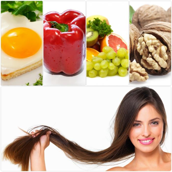 Vitamine für die Haare gesunde ernährung haapflege