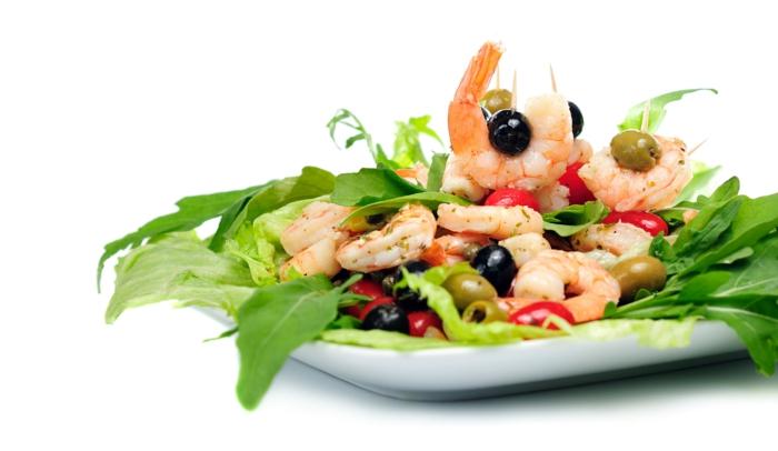 Vitamine für die Haare gesunde ernährung meeresfrüchte garnelen