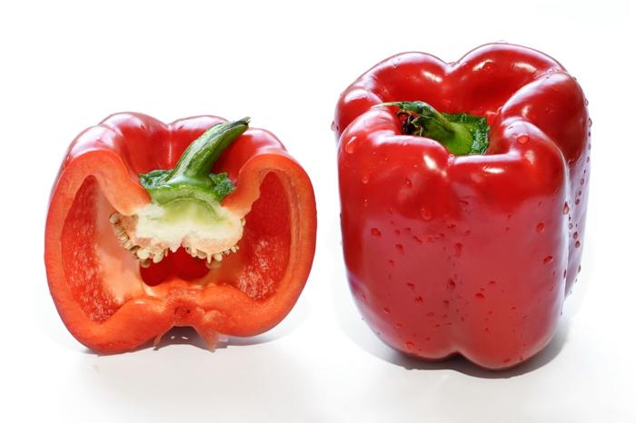 Vitamine für die Haare gesunde ernährung paprika