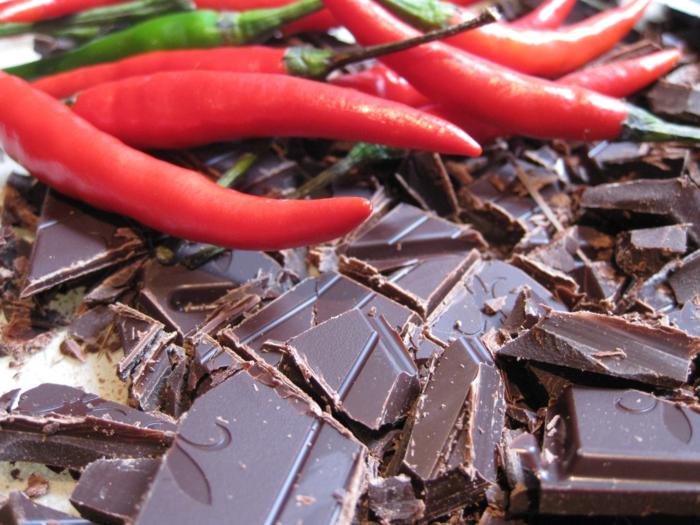 abnehmen mit schokolade dunkel chili