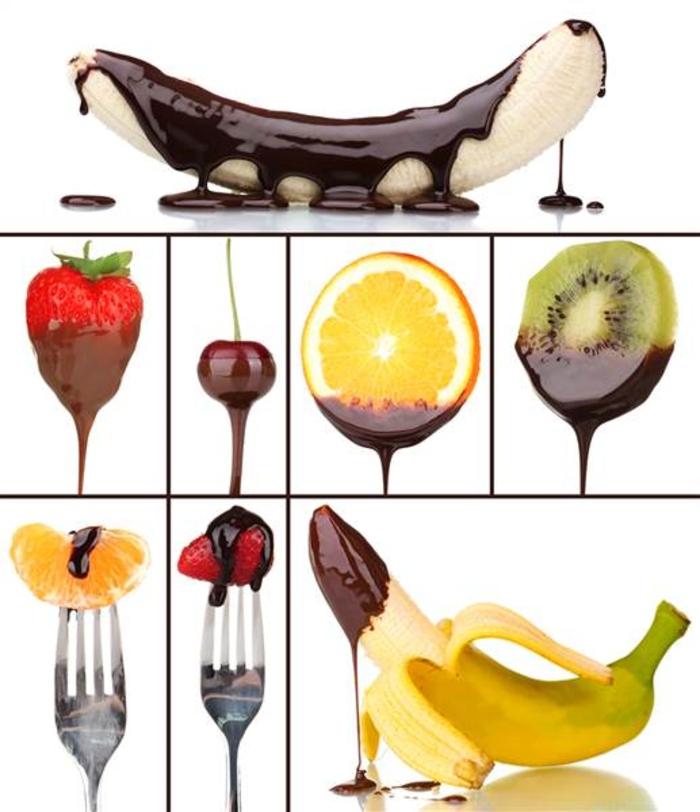 abnehmen mit schokolade früchte schokosoße
