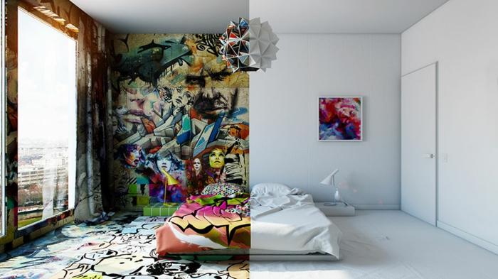 außergewöhnliche hotels graffiti minimalismus