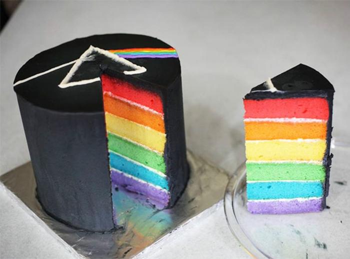 außergewöhnliche torten regenbogenkuchen